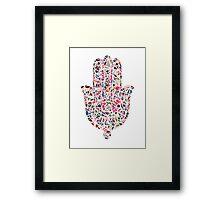 Geometric Hamsa Framed Print