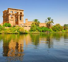 Temple of Philae in Aswan, Egypt. by Shannon Benson