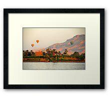 Hot Air Balloons over the Nile River, Egypt Framed Print