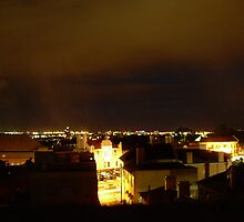 Newtown rooftop night by killerbeez