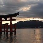 Miyajima's Floating Shrine at Sunset by Harlequitmix