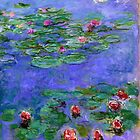 1914-1919 Water lilies, Red, oil on canvas. Claude Monet by naturematters