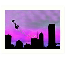 Mary Poppins is in Da' town Art Print