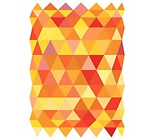 Red Orange Yellow Color Pattern Combination Photographic Print