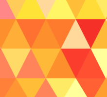 Red Orange Yellow Color Pattern Combination Sticker