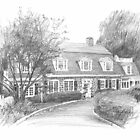 Big cottage drawing by Mike Theuer