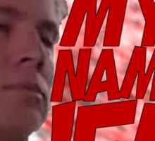 MY NAME IS JEFF Sticker
