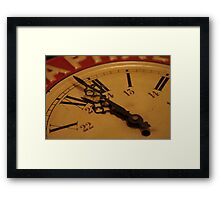 even a stopped clock tells the right time twice a day! Framed Print