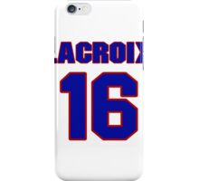 National Hockey player Daniel Lacroix jersey 16 iPhone Case/Skin