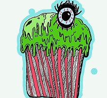 Gruesome cupcake by JMOTTOJ