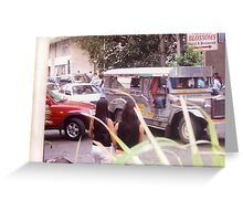 Philippine jeepneys.  Greeting Card