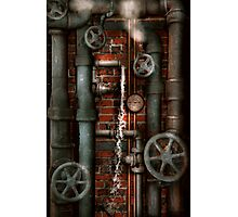 Steampunk - Plumbing - Pipes and Valves Photographic Print