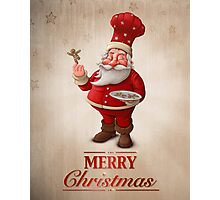 Santa Claus pastry cook greeting card Photographic Print