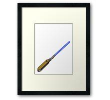 light-swiss-knife-blue-1 Framed Print