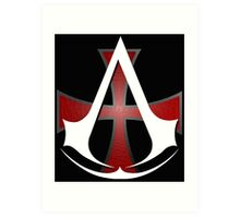 Assassins Creed Choose Your Allegiance Black  Art Print