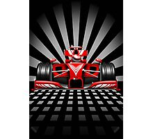 Formula 1 Red Race Car Photographic Print