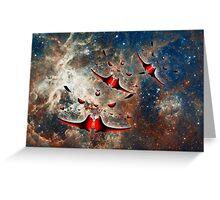 Ships from the Tarantula Nebula, How Long Will It Take Them To Reach Earth Greeting Card