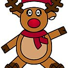 Cute Christmas Reindeer by Jamie Thew