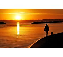 A sunrise walk in November at the Baltic Sea Photographic Print