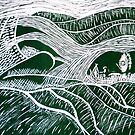 "Girl in a Landscape by Belinda ""BillyLee"" NYE (Printmaker)"