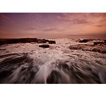 Bar Beach Rock Platform 1 Photographic Print