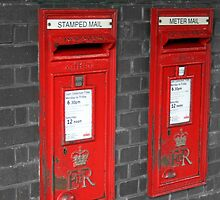 Post boxes by Roxy J