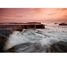 Bar Beach Rock Platform 2 Photographic Print