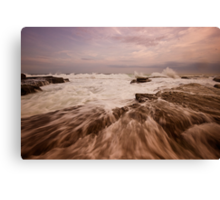 Bar Beach Rock Platform 4 Canvas Print