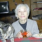 grandmother with cat by hugh bridgeford