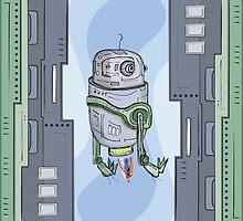Robot Entering by Richard Rabassa