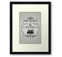 Heirs of Durin Pony Rides Framed Print