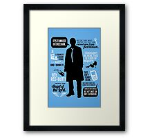 Castiel Quotes Framed Print
