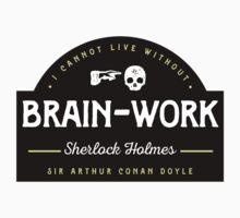 Sherlock Holmes: Brain-Work (Sticker) by Jenn Reese