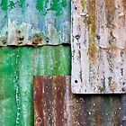corrugated iron mozaic by Michael Findlay