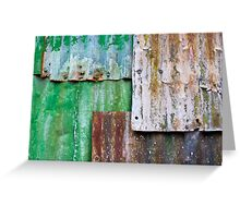 corrugated iron mozaic Greeting Card