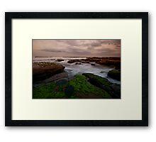 Bar Beach Rock Platform 8 Framed Print
