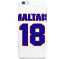 National Hockey player Steve Maltais jersey 18 iPhone Case/Skin