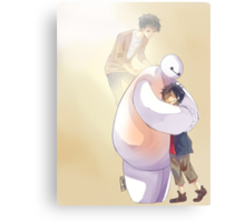 Big Hero 6 Baymax Hugging Hiro With Tadashi Metal Print