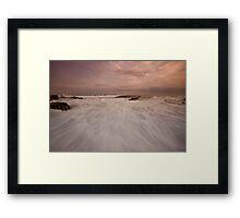 Bar Beach Rock Platform 10 Framed Print