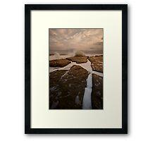 Bar Beach Rock Platform 12 Framed Print