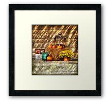 A still life with pumpkins Framed Print