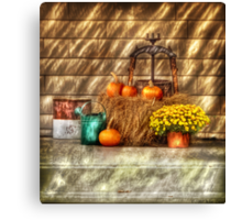 A still life with pumpkins Canvas Print