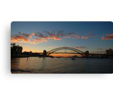 Wisps Of Day- Sydney Harbour, Sydney Australia Canvas Print