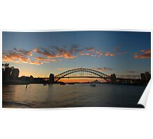 Wisps Of Day- Sydney Harbour, Sydney Australia Poster