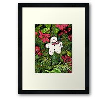 Comic Abstract Gingerbread Man Framed Print