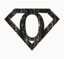 O letter in Superman style by Stock Image Folio