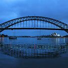 Iconic Reflections- Sydney Harbour Australia by Philip Johnson