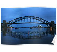 Iconic Reflections- Sydney Harbour Australia Poster