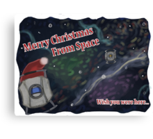 Merry SPACEmas... so much space  Canvas Print