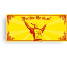 Praise The Sun! Canvas Print